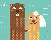 Sergei & Katya Wedding Invitation