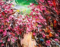 image-꽃길(진달래)