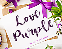 Love Purple Font