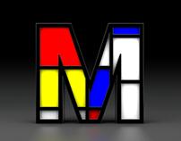 Mondrian typography