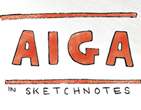 AIGA Lectures in Sketchnotes