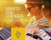 Artam - One Page / Multipurpose WordPress Theme