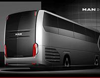 MAN Lion's Coach rear design developement