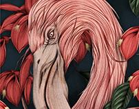 Flamingo Scarf for HELLO JOPO