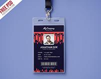 Free PSD : Corporate Company Photo Identity Card PSD