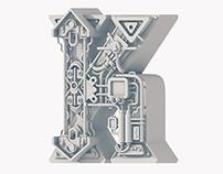 """""""K"""" Letterform - Collab w/ Erik Marinovich"""