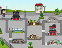 Illustration d'un jeu sur les lieux