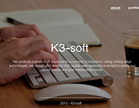 k3-soft first website layout