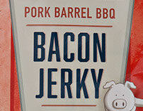 Pork Barrel BBQ Bacon Jerky Packaging