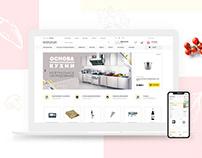 Mosposuda — online store web design, UX/UI & backend