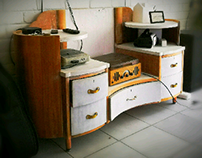 tv unit, transformed from dressing unit
