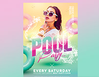 Pool Party Flyer - Summer Templates