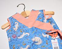 Kitsune Dress and Illustration