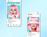 Instagram brand post development