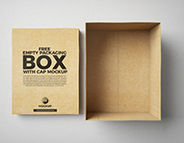 Empty Packaging Box With Cap Mockup