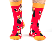 """ Red Nord Snake Indian""  Lookmate socks"
