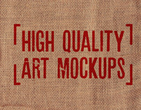 4 HIGH QUALITY ART MOCKUPS