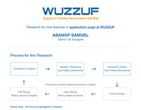 Research for new features in application page at WUZZUF
