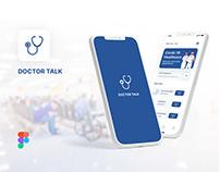 Doctor Talk - online consultation app | Concept