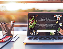 Landing page for Catering company
