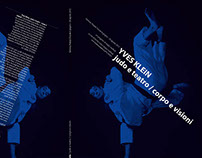 YVES KLEIN / judo e teatro / corpo e visioni