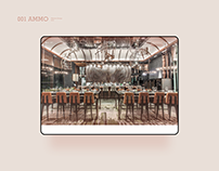 Website UX Design for AMMO Restaurant