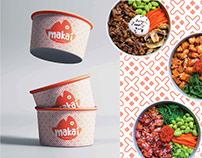 Makai poke logo branding project