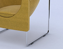 Model+Render of Nube Chair for Stua