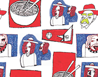 Red, White & Soup Pattern