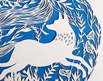 Papercut Fox