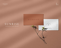 SUNRISE Letterpress Business Card Mockup