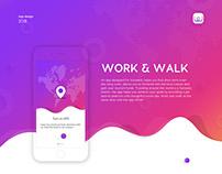 App design | Work&Walk for travelers - 2018