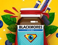 BLACKMORES - blueberry product creative KV