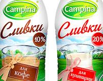 "Design of the identity of cream ""Campina"""