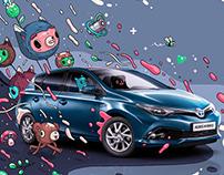 Illustrations for Toyota Auris