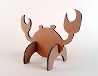 Kartonowe zwierzaki  - Krab / Cardboard toys  – Crab