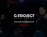 G PROJECT - dance studio single page web-site
