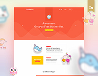 Stickerbuzz: Creative E-Commerce Website Design Concept