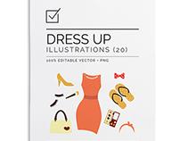 Dress up vector clip art set $15.00