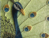 Paper Quilled Peacock