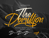 Free The Domillion Brush Font