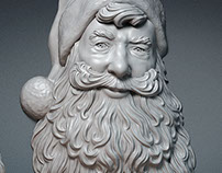 Santa Claus Portrait. Relief