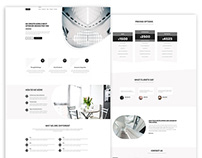 Minimal Website Landing page design for Interior Site