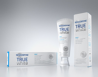 GSK Sensodyne True White 3D Product Visuals