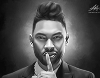 Miguel Digital Oil Style Painting by Wayne Flint