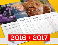 Wall calendar 2016-2017