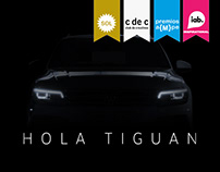 Hola Tiguan - Promo web with artificial intelligence.