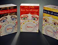Green Tea Set Packaging  Design
