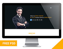 BAKTIGOTO Portfolio Free PSD Template Design