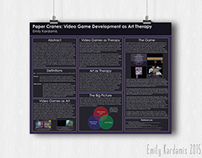 Poster Design // Paper Cranes Research Poster